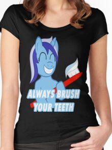 Always brush your Teeth Women's Fitted Scoop T-Shirt