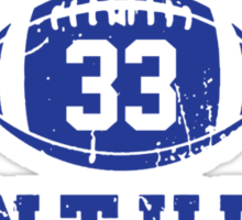 Dillon Panthers Football - 33 Gray Sticker