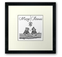 Merry Kissmas Framed Print