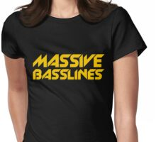 Massive Basslines (Yellow) Womens Fitted T-Shirt