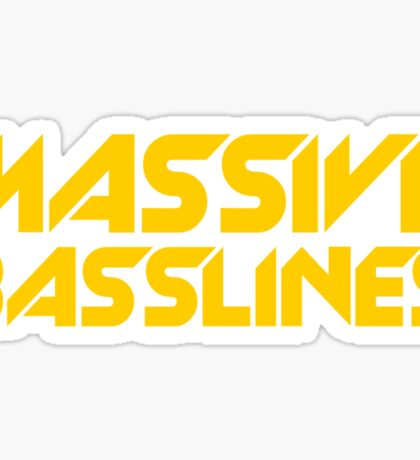Massive Basslines (Yellow) Sticker