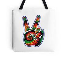 Tie-Dye Peace Sign Tote Bag