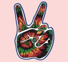 Tie-Dye Peace Sign One Piece - Short Sleeve