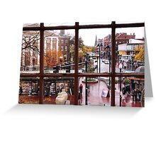 Harvard Square  Greeting Card
