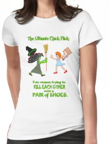 Dorothy and Elphaba - Typical girls... Womens Fitted T-Shirt