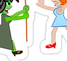 Dorothy and Elphaba - Typical girls... Sticker