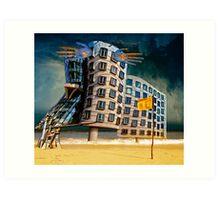 Bates Motel by the Sea. Art Print
