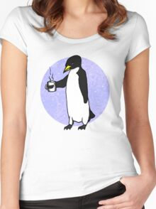 Penguin At Work Women's Fitted Scoop T-Shirt