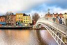 Ha'penny Bridge - Dublin Ireland by Mark Tisdale