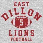 East Dillon Lions Football - 5 Gray by Stucko23
