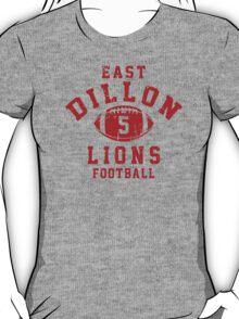 East Dillon Lions Football - 5 Gray T-Shirt