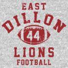 East Dillon Lions Football - 44 Gray by Stucko23