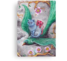 Tea cup kittens adventure Canvas Print