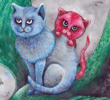 Tea cup kittens adventure Sticker