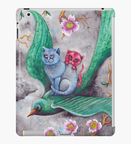 Tea cup kittens adventure iPad Case/Skin