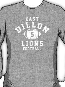 East Dillon Lions Football - 5 Red T-Shirt