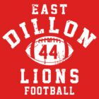 East Dillon Lions Football - 44 Red by Stucko23