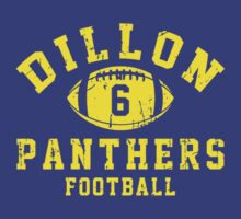Dillon Panthers Football - 6 Blue by Stucko23