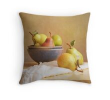 Pears and Bowls Throw Pillow
