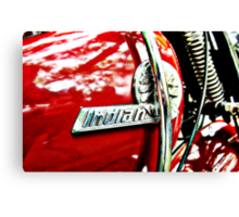 Indian motorcycle tank badge Canvas Print
