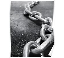 Black and White Chain Poster