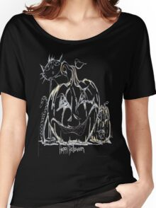 Two Pumpkins and a Kitty Women's Relaxed Fit T-Shirt