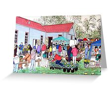 The Tallarook Farmers Market- Country Victoria Greeting Card