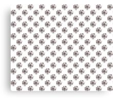 Black and White Roses Pattern Canvas Print