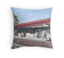 The Tallarook Railway Station Throw Pillow