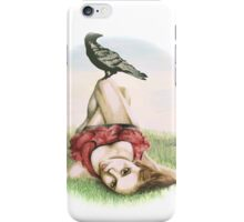 Elena and the Crow iPhone Case/Skin