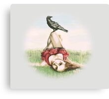 Elena and the Crow Canvas Print