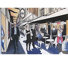 Melbourne Laneway Business Lunch Photographic Print