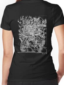 Wild Child Women's Fitted V-Neck T-Shirt