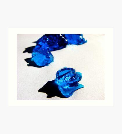 Drops of Blue Jello Art Print