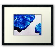 Blue Tidal Waves Framed Print