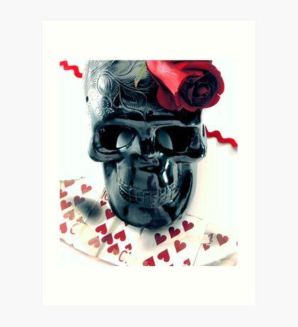 skull n rose Art Print