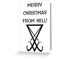 Merry Christmas from Hell Seal of Satan Greeting Card