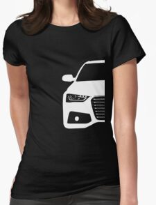 Simple German Sedan front end design Womens Fitted T-Shirt
