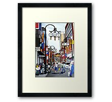 chinatown in melbourne Framed Print