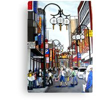 chinatown in melbourne Canvas Print