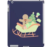Gingerbread man in Sleigh #2 iPad Case/Skin