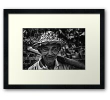 Old Balinese Man Framed Print