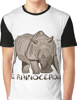 Rhino Ink and Brush Graphic T-Shirt