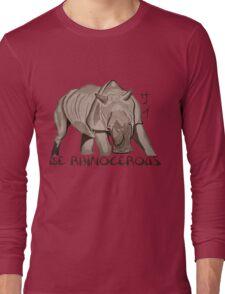 Rhino Ink and Brush Long Sleeve T-Shirt