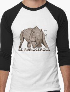 Rhino Ink and Brush Men's Baseball ¾ T-Shirt