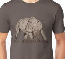 Rhino Ink and Brush Unisex T-Shirt