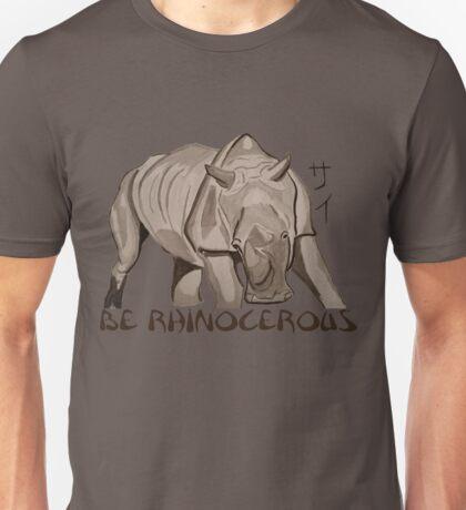 Rhino Ink and Brush Unisex T-Shirt