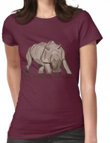 Rhino Ink and Brush Womens Fitted T-Shirt