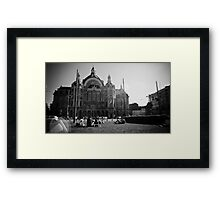Summer at Antwerp Station Framed Print