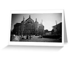 Summer at Antwerp Station Greeting Card